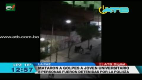 Asesinan a golpes a un universitario en La Paz