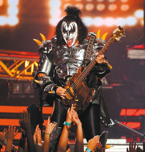 El bajista y cantante de la banda Kiss, Gene Simmons. Foto: AFP