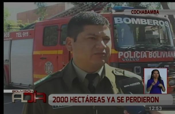 Incendio forestal afecta a dos cerros de Pojo