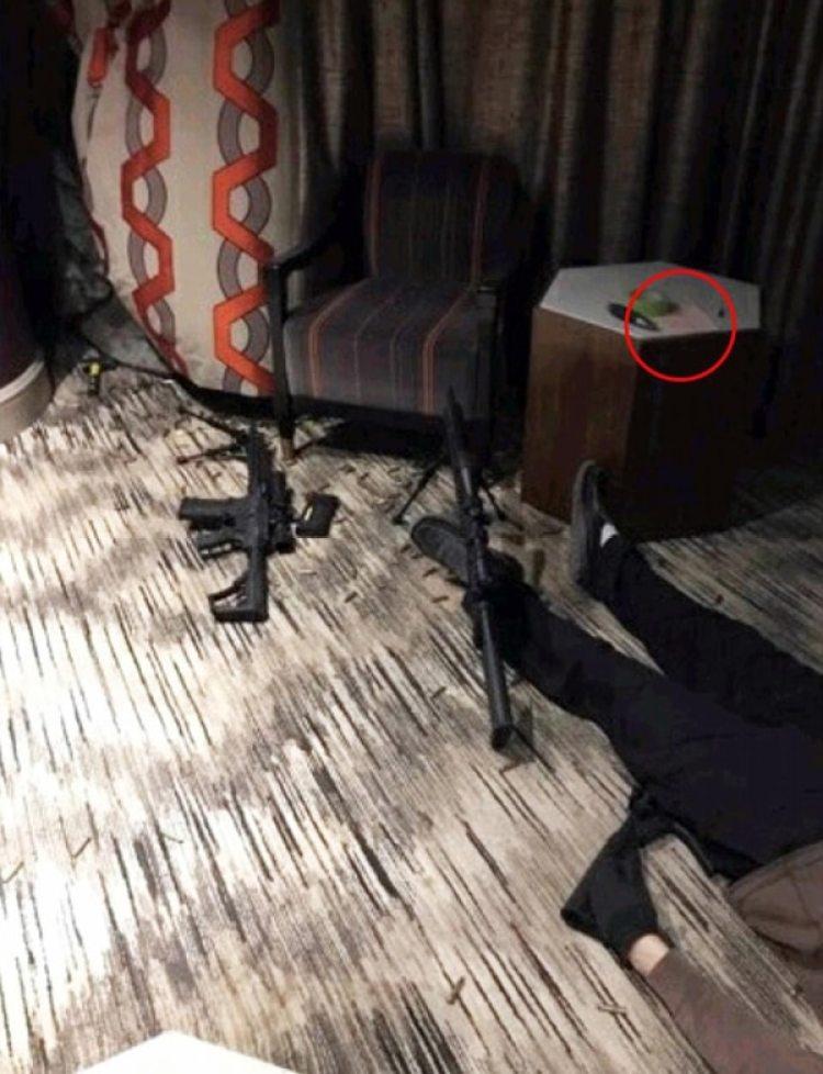 La escena del crimen en el Hotel Mandalay Bay