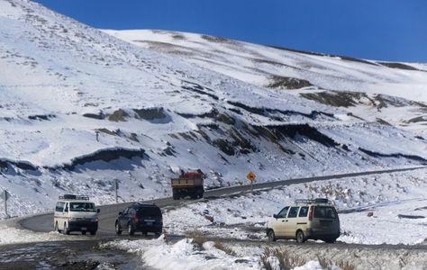 Nevada en el sector de la Cumbre en La Paz. Foto: archivo La Razón