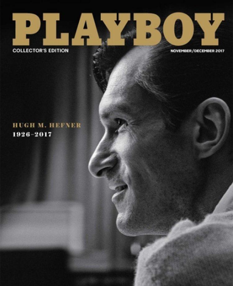 La tapa de Playboy con Hugh Hefner