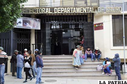 Resultado de imagen de Tribunal Electoral de Oruro