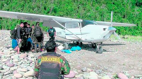 Una avioneta con matrícula boliviana interceptada en Perú con droga.