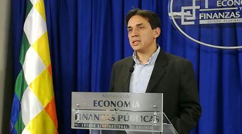 El ministro de Economía, Mario Guillén, en una anterior conferencia de prensa. Foto: Ministerio de Economía