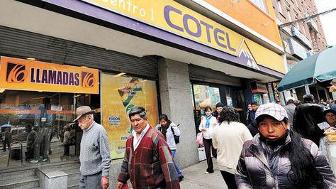 Oficina Central de Cotel en la avenida Mariscal Santa Cruz, en pleno centro de La Paz