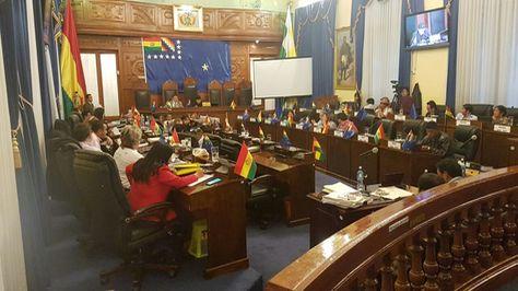 Sesión de la Cámara de Senadores.