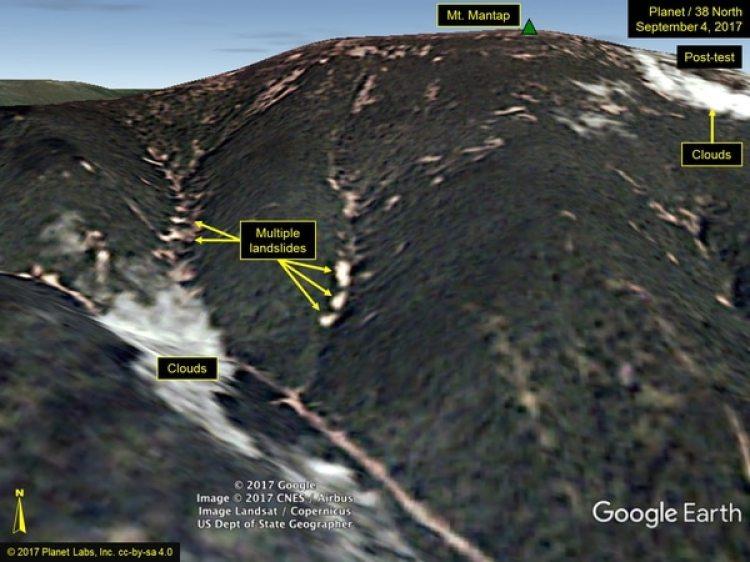 Las seis pruebas nucleares de Corea del Norte se realizaron en la misma montaña (38 North)