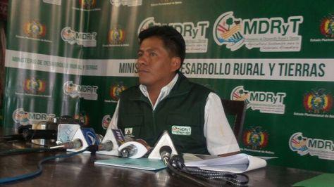 Resultado de imagen para viceministro de Coca, Wilfredo Llojlla,