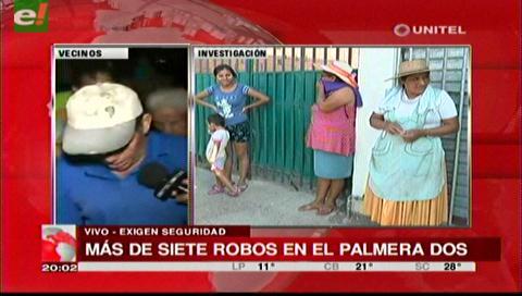 Vecinos de la urbanización Palmeras Dos denuncian inseguridad