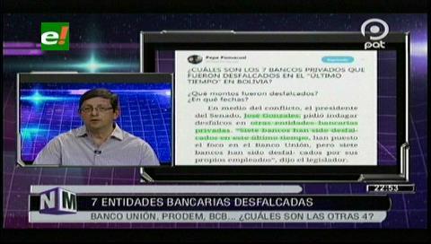 Ortiz: Presidente del Senado busca diluir responsabilidad del Gobierno en el caso del desfalco al Banco Unión