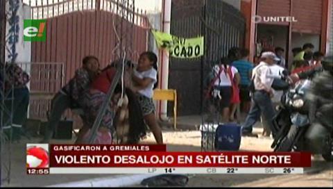 Violento desalojo de comerciantes en Satélite Norte