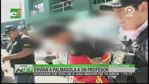 Envían a Palmasola a profesor acusado de abusar a su alumna