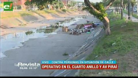 """Desalojan a """"hombres topos"""" en la avenida Piraí"""