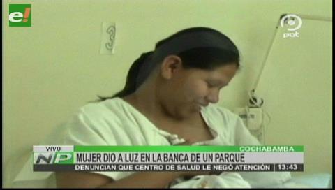 Cochabamba: Madre da a luz en una banca a pocos metros de un centro de salud