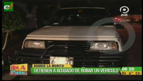 Detienen a sujeto acusado de intentar robar un vehículo