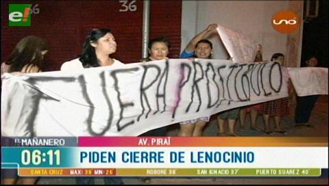 Vecinos exigen el cierre de un supuesto lenocinio por la avenida Piraí