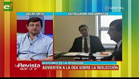 Ortiz cree que la OEA rechazará reelección de Evo porque no existe una violación a los DDHH