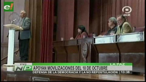 Contra la repostulación: Exautoridades nacionales apoyan movilización del 10 de octubre