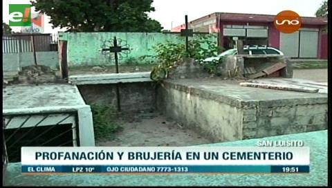 Profanación de tumbas y brujería en un cementerio del barrio San Luisito