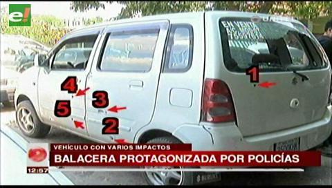 Santa Cruz: Investigan balacera entre policías