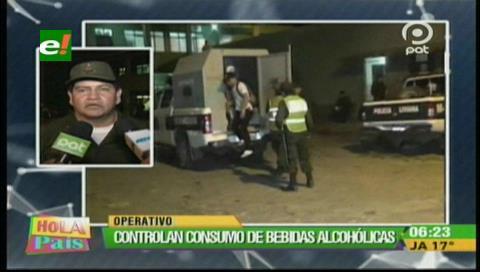 Policía controló el consumo de bebidas alcohólicas en la Villa Primero de Mayo