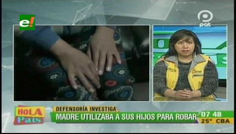 La Paz: Mujer utilizaba a sus cuatro hijos para robar