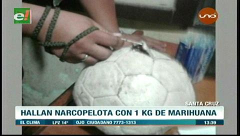 Pretendían ingresar droga a Palmasola camuflada en una pelota