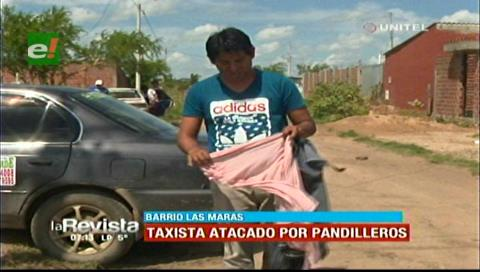 Taxista es atacado por supuestos pandilleros
