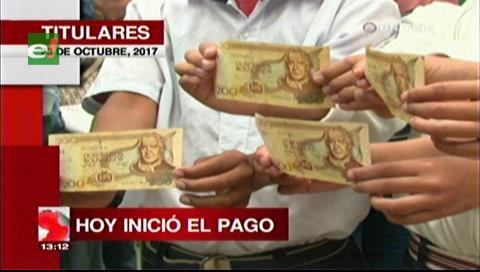 Video titulares de noticias de TV – Bolivia, mediodía del lunes 23 de octubre de 2017
