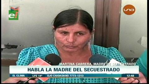 Madre del secuestrado Gabriel Silva niega que su hijo esté en narcotráfico