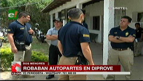 Sorprenden a menores robando autopartes en propiedad de Diprove