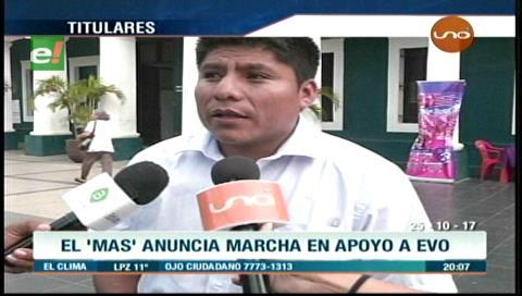 Video titulares de noticias de TV – Bolivia, noche del miércoles 25 de octubre de 2017