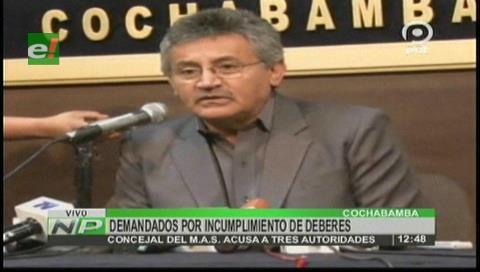 Cochabamba: Concejal denuncia a Leyes, Canelas y Campero por incumplir deberes en temas de salud