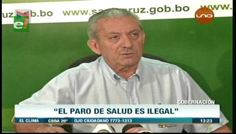 Oscar Urenda califica de abusivo el paro de los trabajadores de salud