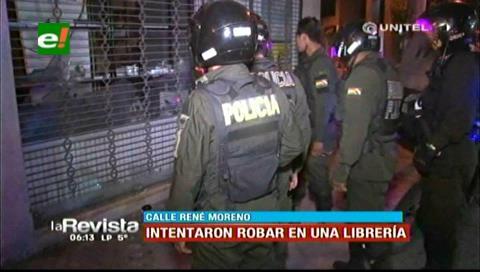 Santa Cruz: Vecinos logran impedir el robo en una librería del centro de la ciudad
