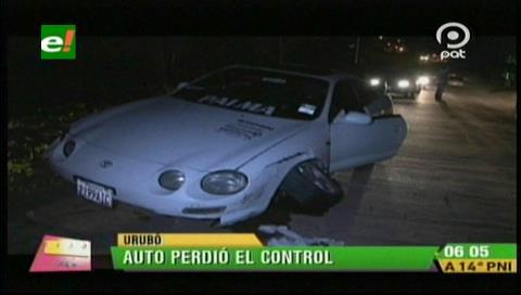 Choque de dos vehículos en el Urubó deja un herido