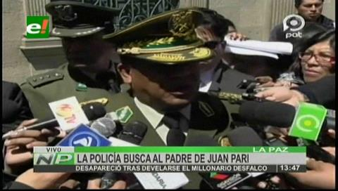Policía activa la búsqueda del padre de Pari por el desfalco millonario al Banco Unión
