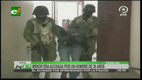 Sujeto es detenido por acosar a una adolescente de 15 años en Tarija