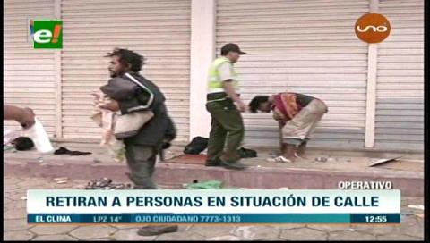 Santa Cruz: Autoridades rescatan a indigentes en varias zonas de la ciudad