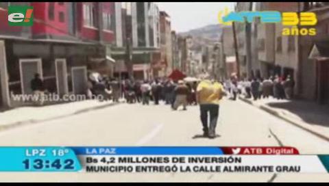 Se entregó la calle Almirante Grau en La Paz