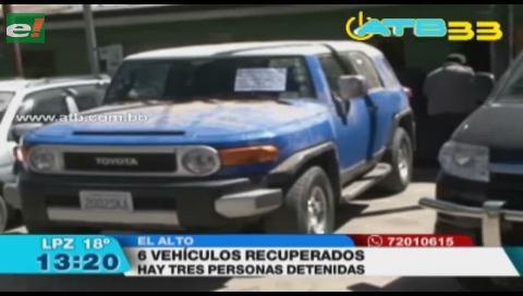 La Policía recuperó 6 vehículos robados