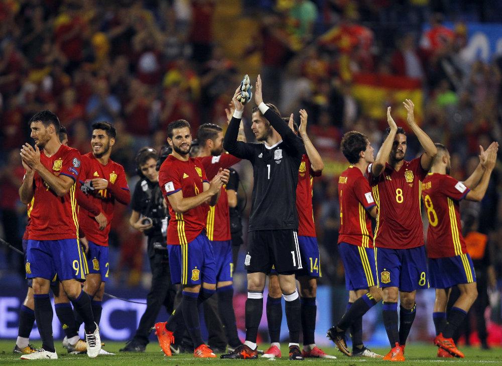 España goleó a Albania y clasificó a Rusia 2018