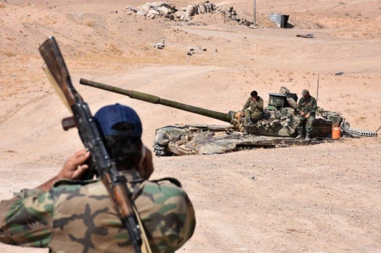 Soldados sirios en Bughayliyah, en el norte de Deir al Zur (AFP/archivo)