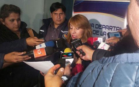 La fiscal Lilian Calderón, quien investiga el caso de corrupción en el Hospital Obrero