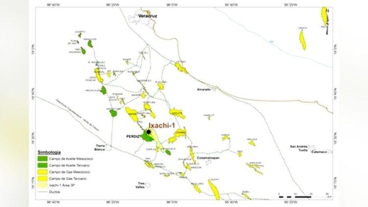 El mapa del yacimiento