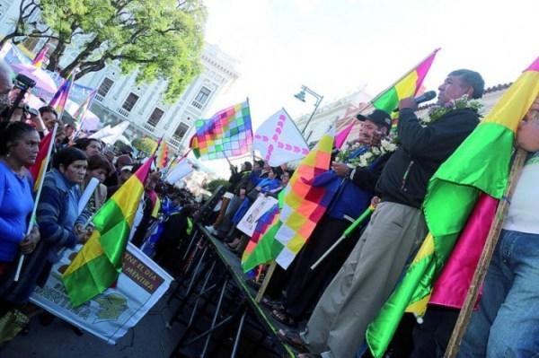 MAS. Una imagen de la militancia del partido, en un acto en Sucre.