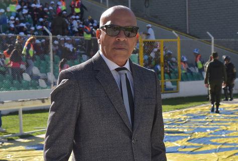 Roberto Mosquera durante un cotejo del fútbol profesional boliviano en La Paz. Foto: Archivo La Razón