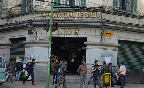 Frontis de la CNS en La Paz. Foto: La Razón - archivo