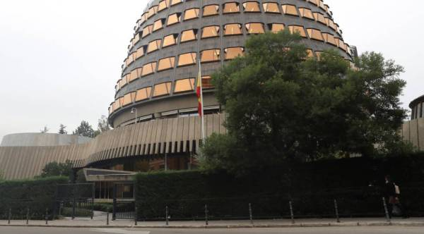 Fachada del Tribunal Constitucional, ubicado en Madrid.